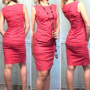 Nicole Miller Lauren Stretch Coral Ruched Dress: 4